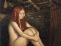 Akt im Wald (Kleine Waldhexe), 2006, 100x80, Mischtechnik auf MDF