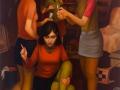 Geist in der Truhe, 2013/14, 140x100, Mischtechnik auf Hartfaser